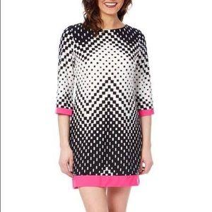 Sandra Darren 3/4 length sleeve shift dress